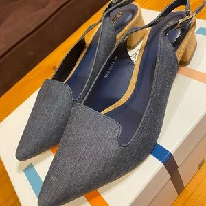 Denim heels size 6.5-7US